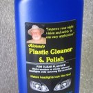 Richard's Plastic cleaner and polish for headlights and clear plastics.