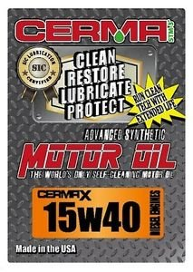Cerma X 5qt.15W40 synthetic motor oil with STM3 for diesel engines,self cleaning