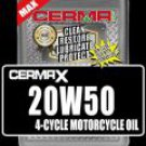 Cerma X 4qt. 20w50 Synthtic 4Cycle Motorcycle Oil with STM3