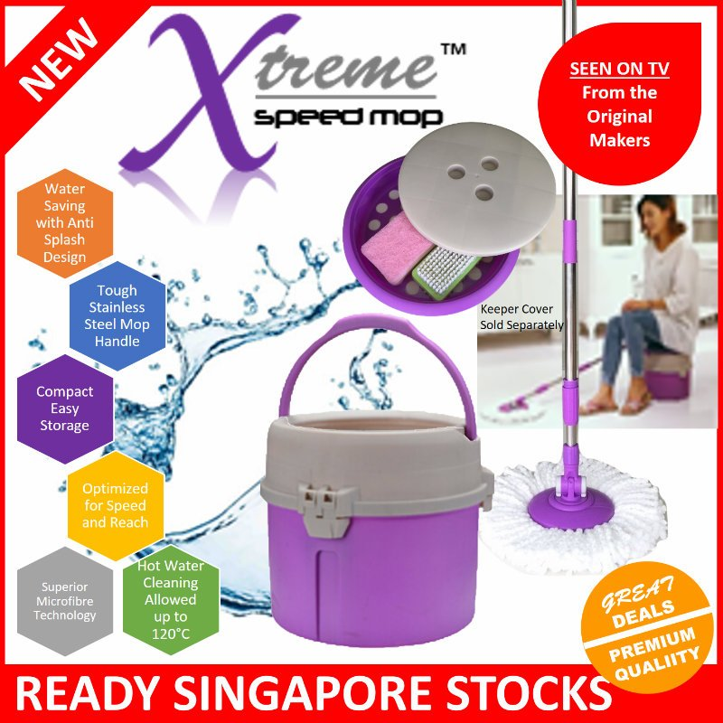 Xtreme Speed Mop�Compact�Water Saver�No Spill�Hot Water Clean�Tough Stainless Steel Handle