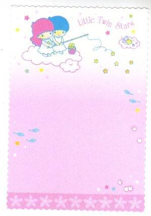 Japan Sanrio Little Twin Stars flower boarder postcard