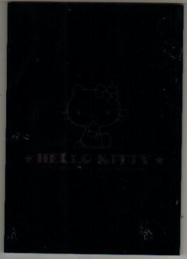 Japan Sanrio Hello Kitty Black Star Notepad (large memo pad)