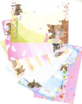 Japan San-x Puppy Angel with Stars Papers