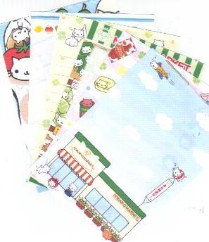 JAPAN San-x Nyanko Market Papers Kawaii