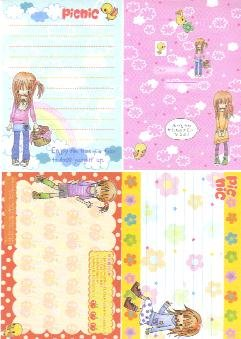 Japan Kamio Girl Fashion Picnic Papers