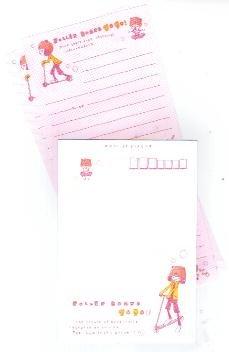Japan Kamio Girl Roller Board Lettersets