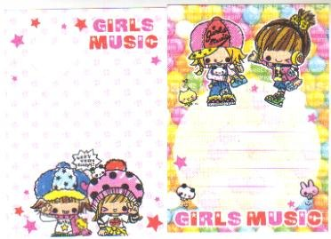 Japan Kamio Girls Music Memos