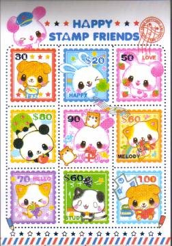 Japan Kamio Happy Stamp Friends Papers