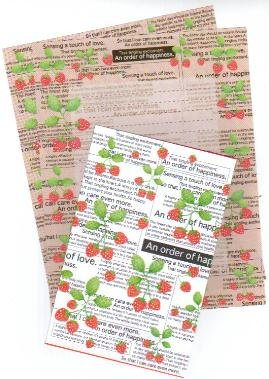 Japan Strawberry Newspaper Lettersets