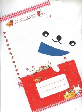Japan Rabbit with Strawberry Cake Lettersets