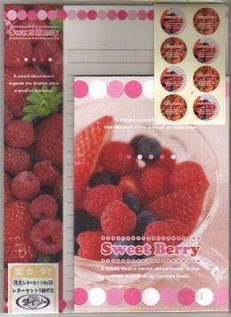 Japan Sweet Berry Lettersets Pack KAWAII