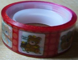 Bear w/ Red Pokka Dots Deco Tape
