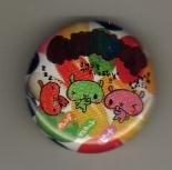 Japan Bunny with Jelly Bean Metal Pin / Button Kawaii