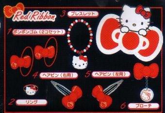 KAWAII Japan Hello Kitty Hair Clip (Red) #5