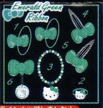 KAWAII Japan Hello Kitty Hair Clip (Emerald) #5