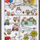 Taiwan Rabbit Kitten Comic Notepad (large memo pad)