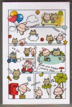 Taiwan Rabbit Kitten Comic Notepad (large memo pad)