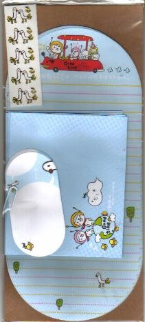Taiwan White Bear Travel Lettersets Pack