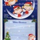 Korea Angel Girls Christmas Card w/ Envelope (Glitter)