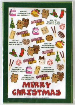 Korea Cookie Bear Christmas Card w/ Envelope #8