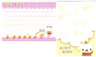 Japan Sweet Berry White Bear Memos