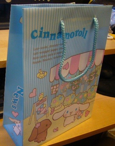 Japan Sanrio Baby Cinnamoroll Bag (plastic) KAWAII