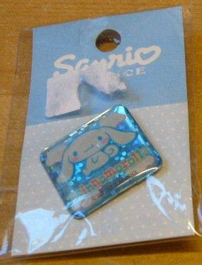 Japan Sanrio Baby Cinnamoroll Sparkly Pin (Square) Kawaii