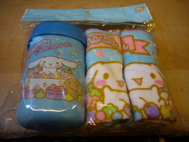 Japan Sanrio Baby Cinnamoroll Towels w/ Box Set Kawaii