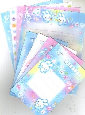 JAPAN San-x Twin Angels Rabbit Lettersets Kawaii