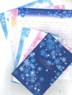 JAPAN Cru-x Snow Dance (Glittery) Lettersets Kawaii