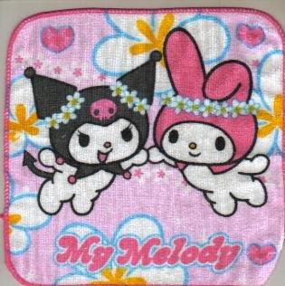 Japan Sanrio My Melody and Kuromi Towel KAWAII