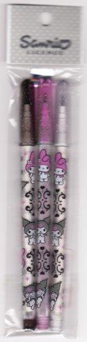 Japan Sanrio My Melody & Kuromi 3 Magic Pencils Pack KAWAII