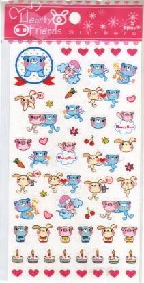 Taiwan Animal Happy Birthday Sparkly Sticker KAWAII