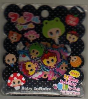Japan Q-Lia Baby Infinite Sack Stickers KAWAII