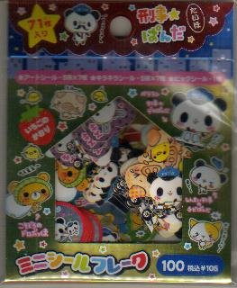 Japan Cru-x Panda Police Sack Stickers KAWAII