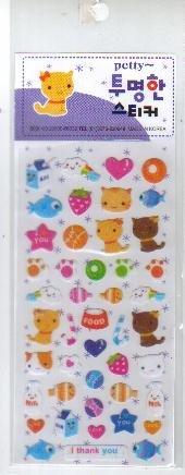 Korea Kitten Glitter Sticker KAWAII
