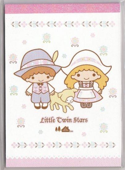 JAPAN Sanrio Little Twin Stars Farm Notepad (large memo pad) KAWAII