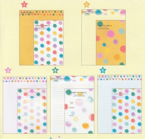 JAPAN Cru-x Colourful Tears Lettersets Kawaii