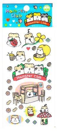 Japan Hamster Club Hamster w/ Sunflower Seed Sticker KAWAII