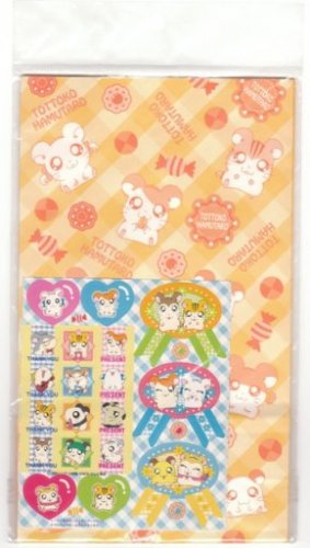 Japan Hamutaro Paper Gift Bags Pack KAWAII
