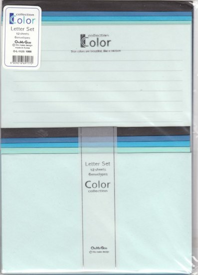 Korea Colour Collection (blue type) Lettersets KAWAII