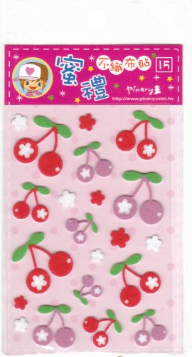 Taiwan Cherry Cloth Sticker KAWAII
