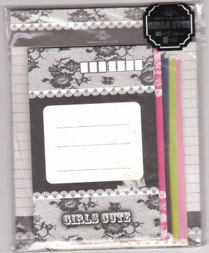 JAPAN San-x Girls Cute Crown & Lace Lettersets Pack KAWAII