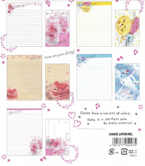 JAPAN Kamio Happy Sweet Life Lettersets Kawaii