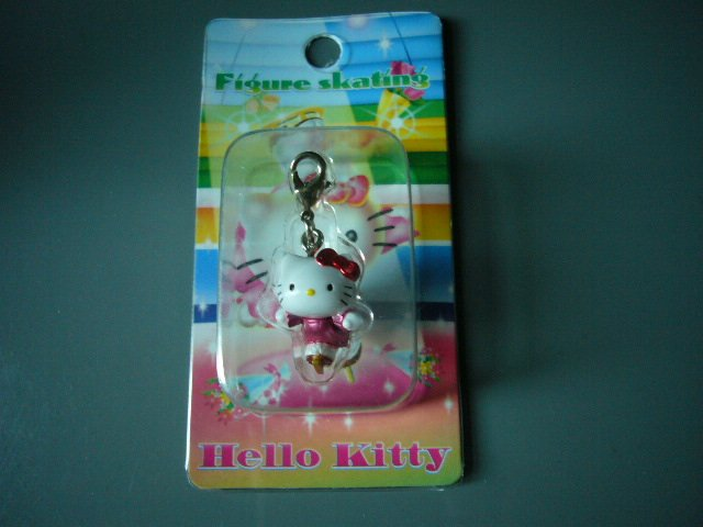 JAPAN Hello Kitty Skating Hanging Button KAWAII