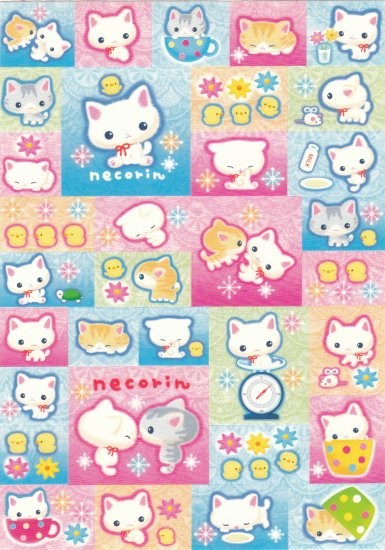 Japan San-x Necorin Kitten Sticker KAWAII