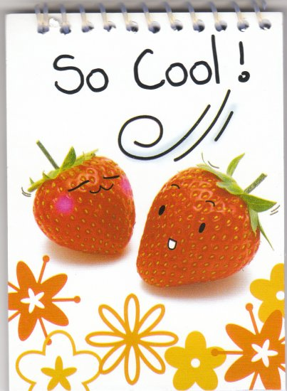 "Strawberry ""So Cool!"" Small Notebook Kawaii"