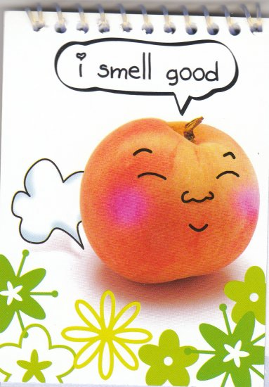 "Peach ""I smell good"" Small Notebook Kawaii"