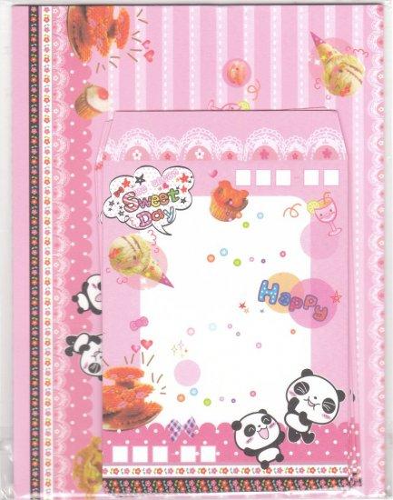 Taiwan Panda w/ Ice-cream Pancake Lettersets KAWAII