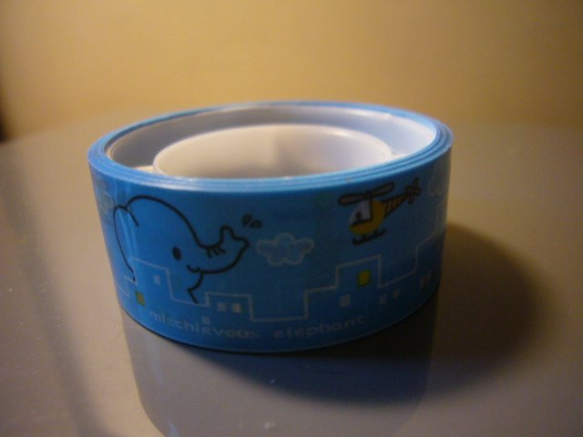 Japan Elephant w/ Helicopter Deco Tape KAWAII